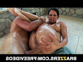 Big booty bubble butt babe tory lane is oiled up for rough anal