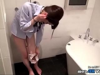 Japanese hostess fucked hard in the shower Full