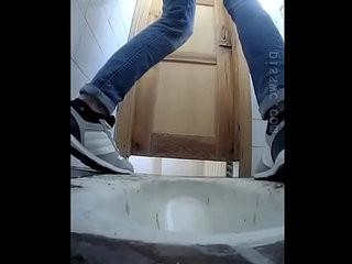 Hidden cam in school toilet pissing girl