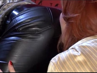 Hot Lesbians In Leather Pants...