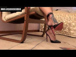 Submissive cuckold cuckolded by his sexy Russian wife