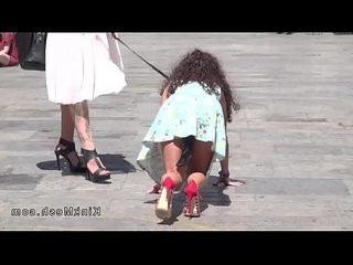 Public petite slave disgraced in downtown